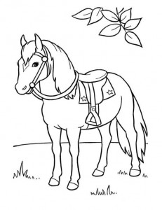coloring page Horses (9)
