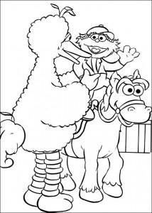 kleurplaat Paardrijden (1)
