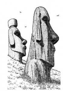 coloring page Easter Island