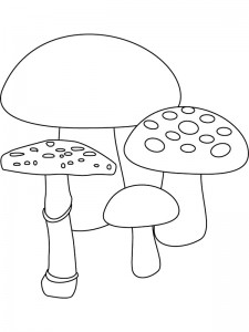 coloring page Mushrooms (1)