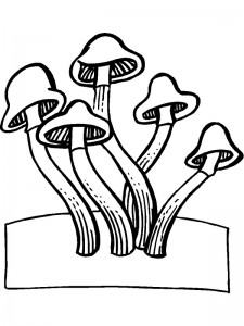 coloring page Mushrooms (4)