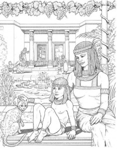 coloring page Palace garden