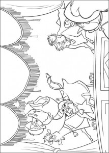 coloring page Panic on the prairie