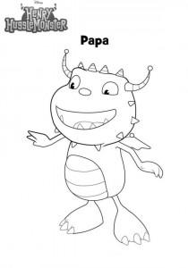 coloriage papa