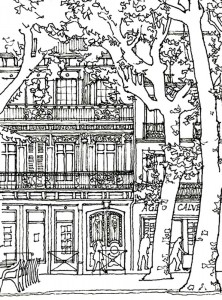 coloring page paris