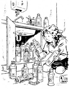 coloring page Beware of combustible items in your home