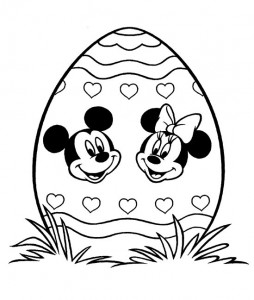 coloring page Easter with Disney (20)