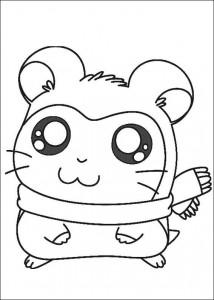 coloring page Pashmina, med det rosa skjerfet sitt