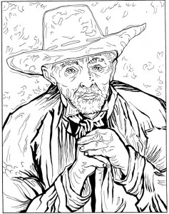 coloring page Patience Escalier 1888