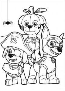 coloring page Paw Control (1)