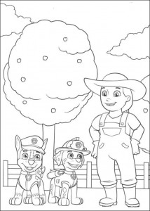 coloring page Paw Control (10)