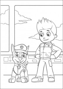 coloring page Paw Control (20)
