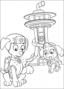 coloring page Paw Control (22)