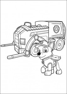 coloring page Paw Control (4)