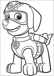 coloring page Paw Control (5)