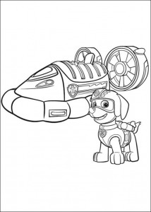 coloring page Paw Control (7)