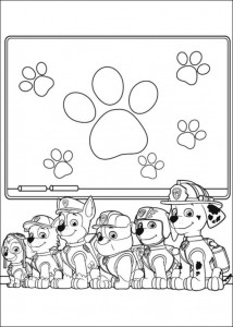 coloring page Paw Control