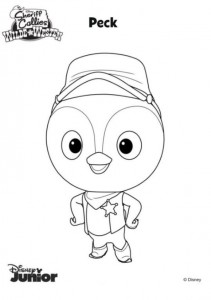 peck coloring page