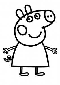 coloring page Peppa