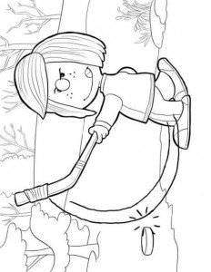 peppermint patty coloring page
