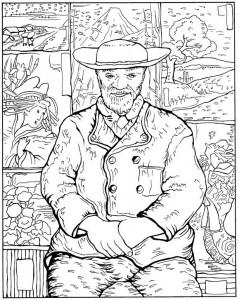 pagina da colorare Père Tanguy 1887