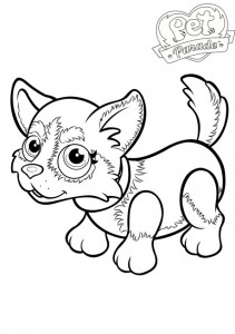 coloring page Pet parade (3)