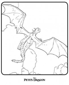 coloring page Peter and the dragon (Petes Dragon) (1)