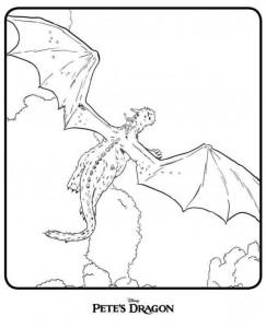 Dibujo para colorear Pedro y el dragón (Dragón de Petes) (1)