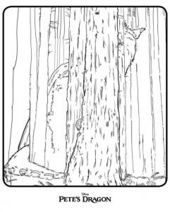 Dibujo para colorear Pedro y el dragón (Dragón de Petes) (3)