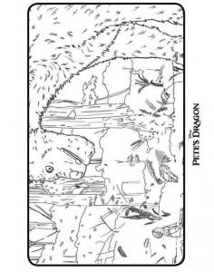 kleurplaat Peter en de draak (Petes Dragon) (4)