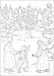coloring page Peter Lucy Susan