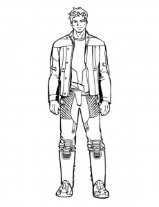 peter quill coloring page