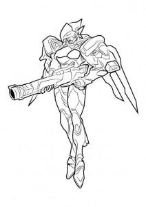 coloring page pharah