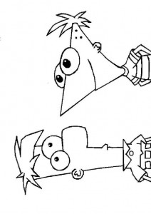 coloring page Phineas and Ferb (2)