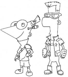 målarbok Phineas och Ferb (8)