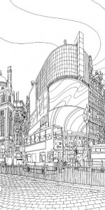 Coloriage Piccadilly Circus 1