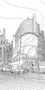 målarbok Piccadilly cirkus 1
