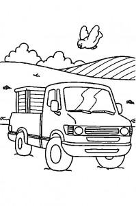 kleurplaat Pickup truck
