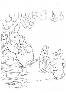 coloring page Pieter Konijn (19)