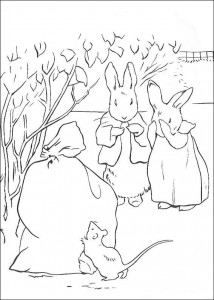 coloring page Pieter Konijn (25)