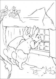 coloring page Pieter Konijn (26)