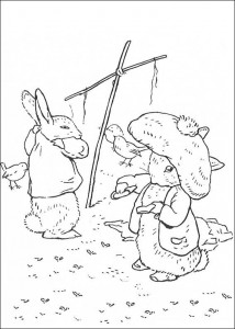 coloring page Pieter Konijn (28)