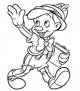 kleurplaat Pinocchio