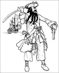 kleurplaat Piraat (1)
