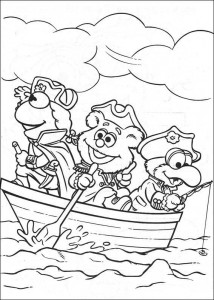 coloring page Pirate muppets