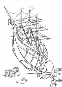 coloring page Pirate planet (37)
