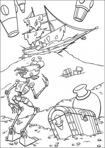 coloring page Pirate planet (58)