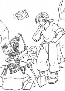 coloring page Pirate planet (8)