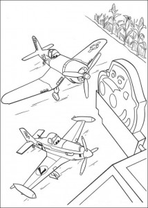 kleurplaat Planes 2 (10)