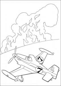 kleurplaat Planes 2 (14)